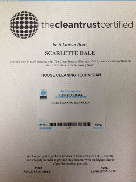 Certified House Cleaning Technician Bit A Bliss Cleaning
